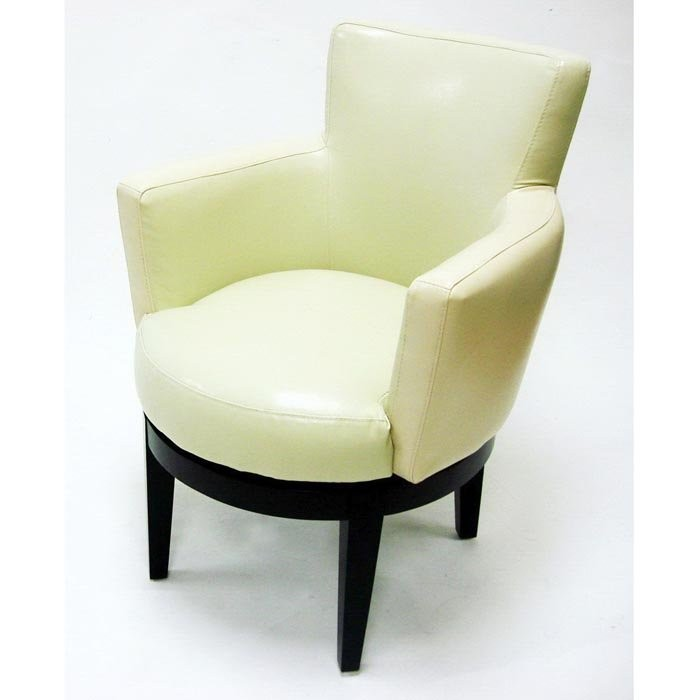 Leather Swivel Glider