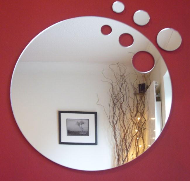 Oval Beveled Bathroom Mirror
