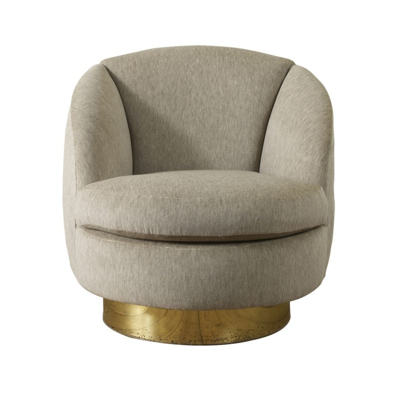 Swivel Leather Chair Living Room