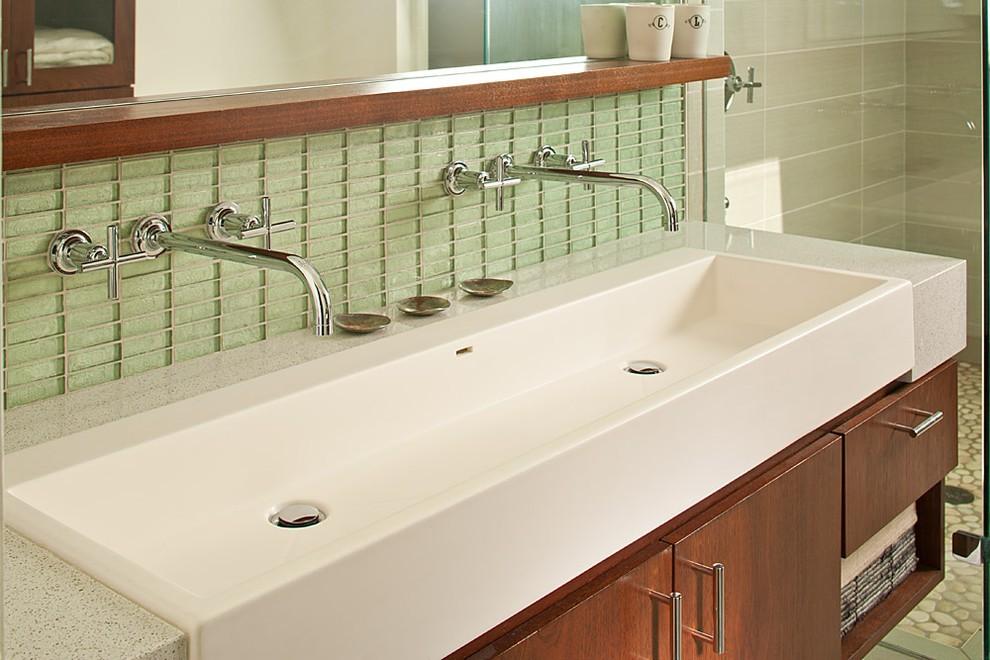 Trough Sink Vanity Bathroom A