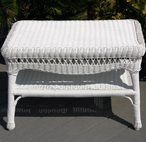 "A Wicker Side Table Says, ""Home"""