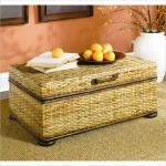 Wicker Side Table With Glass Top