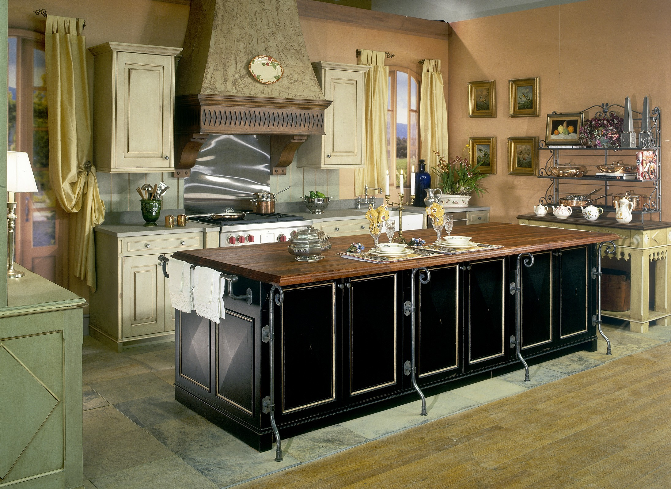French Country Kitchen Islands