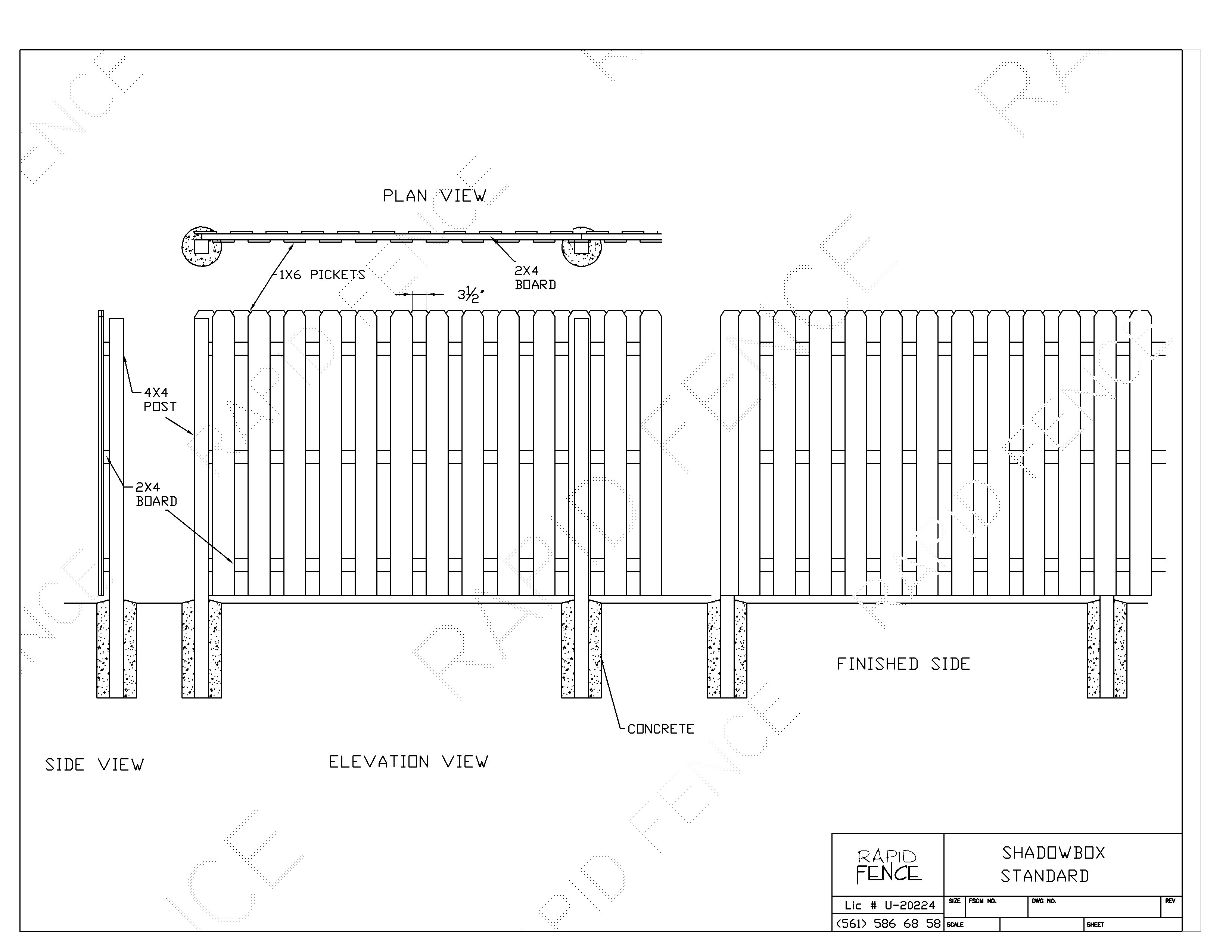 How To Build A Shadow Box Fence