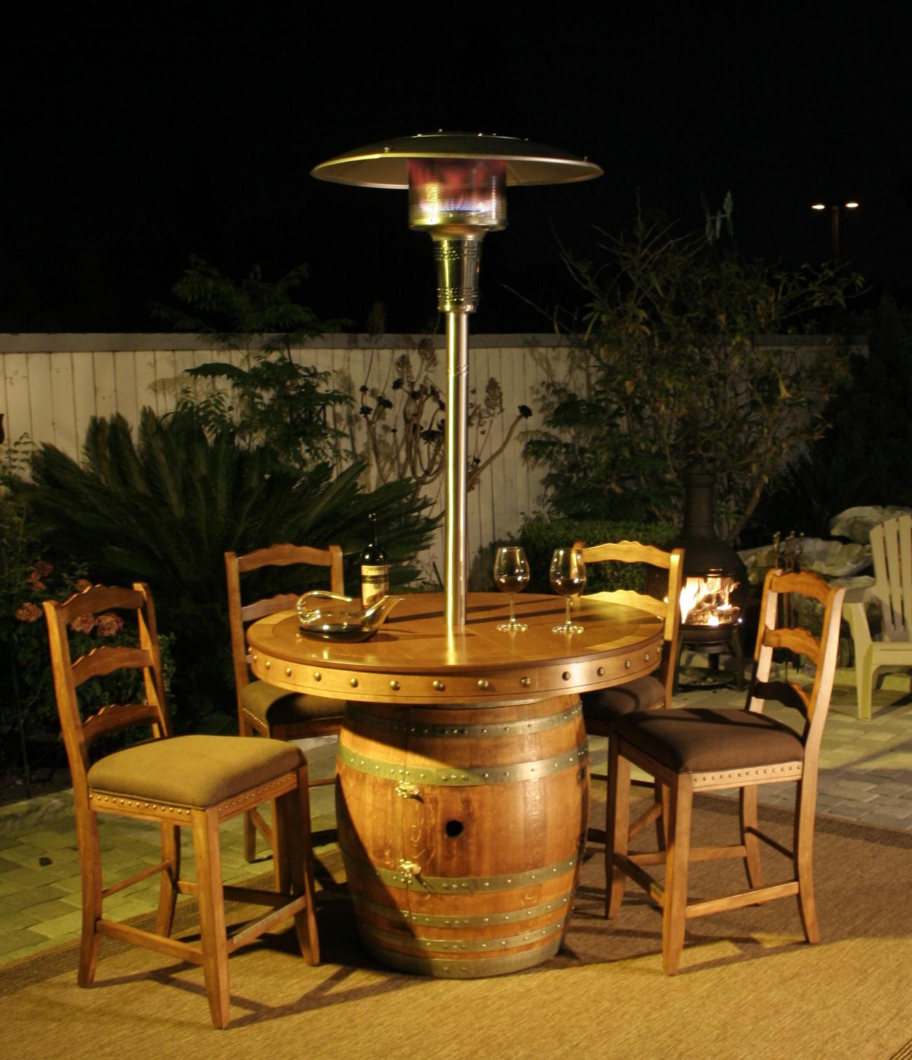 Outdoor Wine Barrel Table