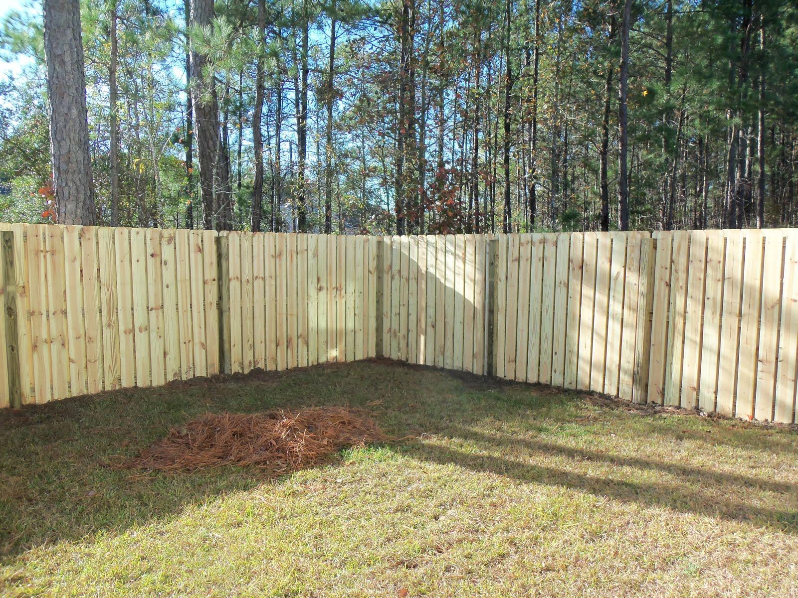 Shadow Box Fence Design