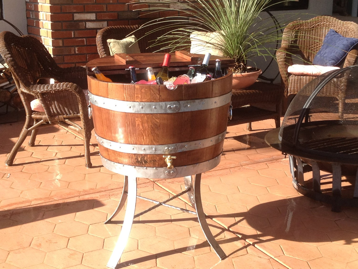 Wine Barrel Furniture Ideas And Photos A Creative Mom