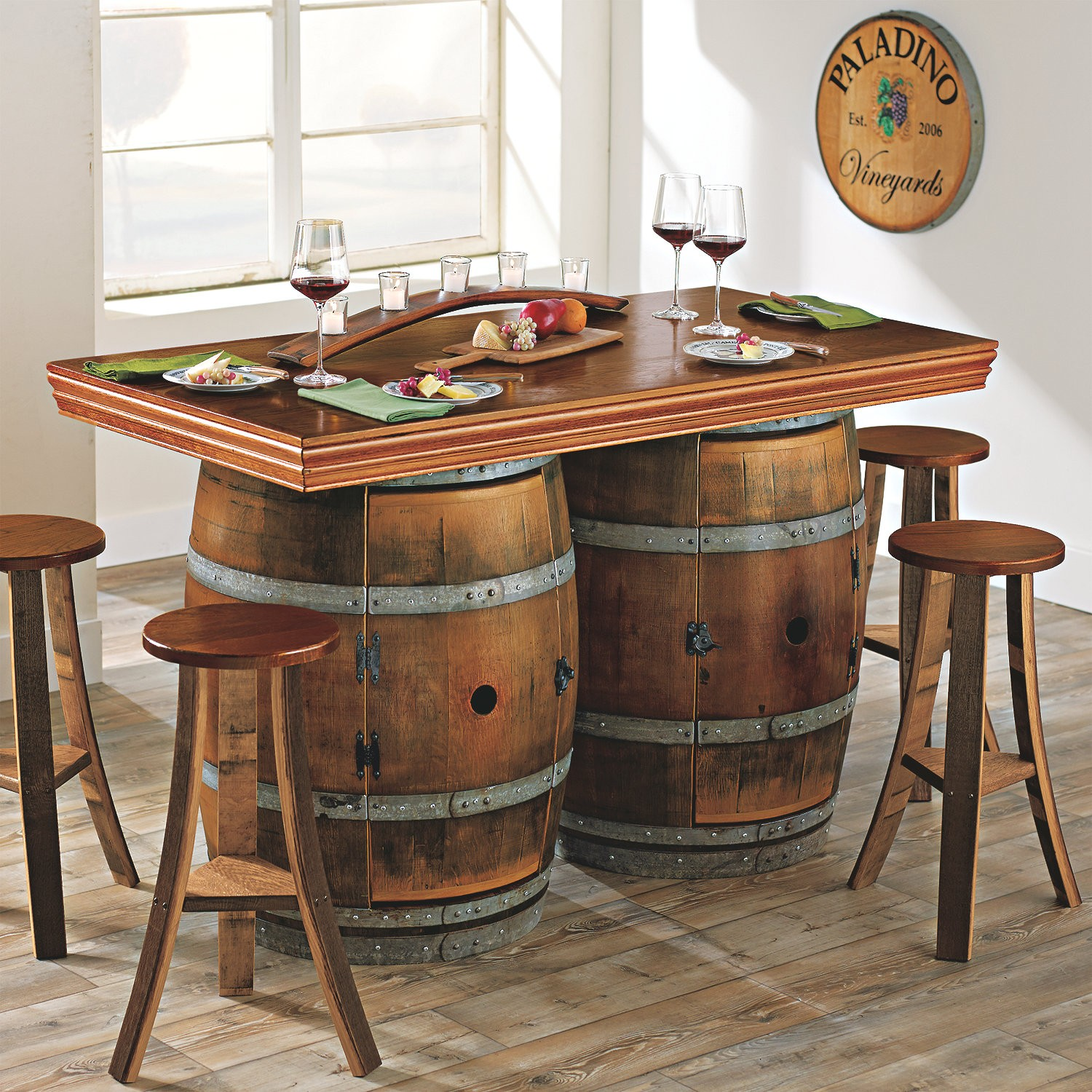Wine Barrel Table And Chairs