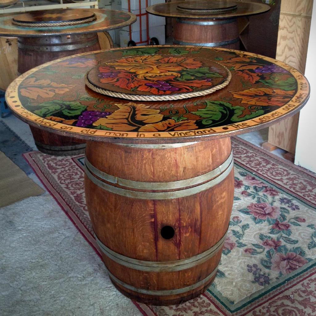 Wine Barrel Table Base