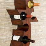 wood hanging wine rack