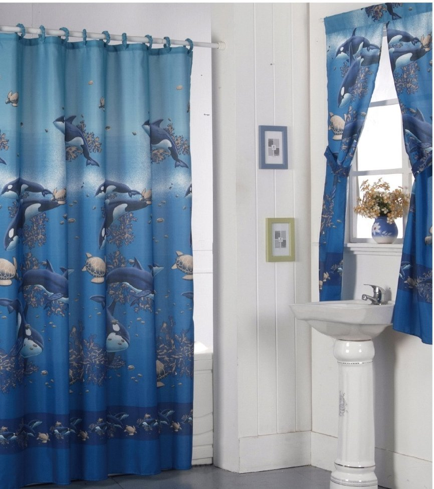 Bathroom Window Curtain Sets A