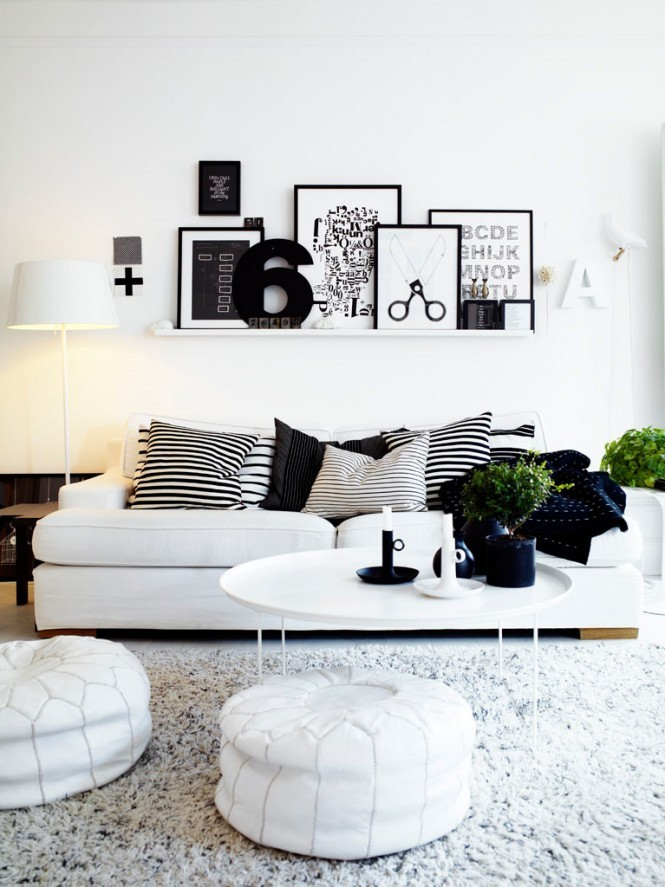 Black and white home decorating ideas