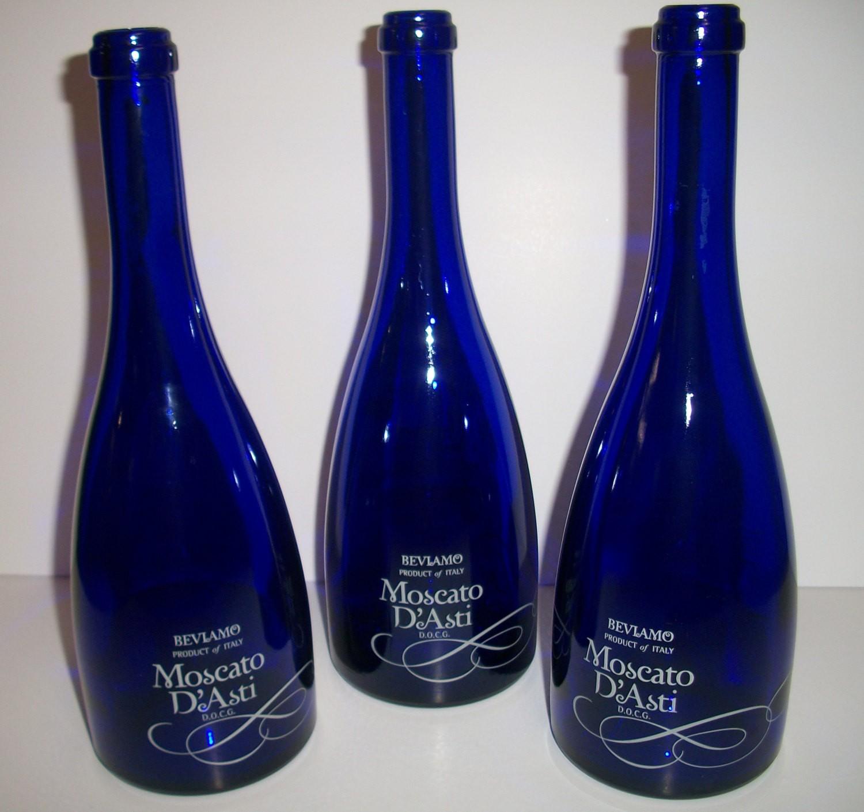 Blue Wine Bottle Centerpieces