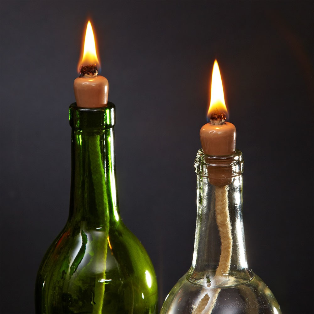 Candle Wine Bottle Centerpieces