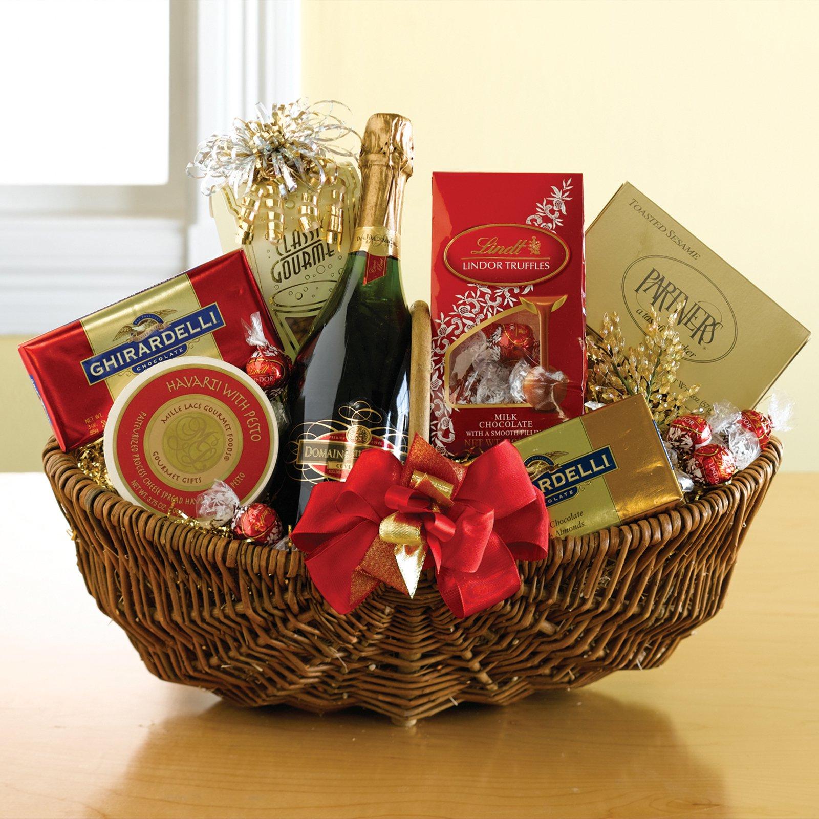 Christmas Wine Baskets