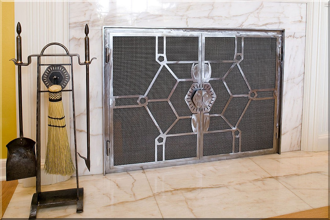 Contemporary fireplace tools