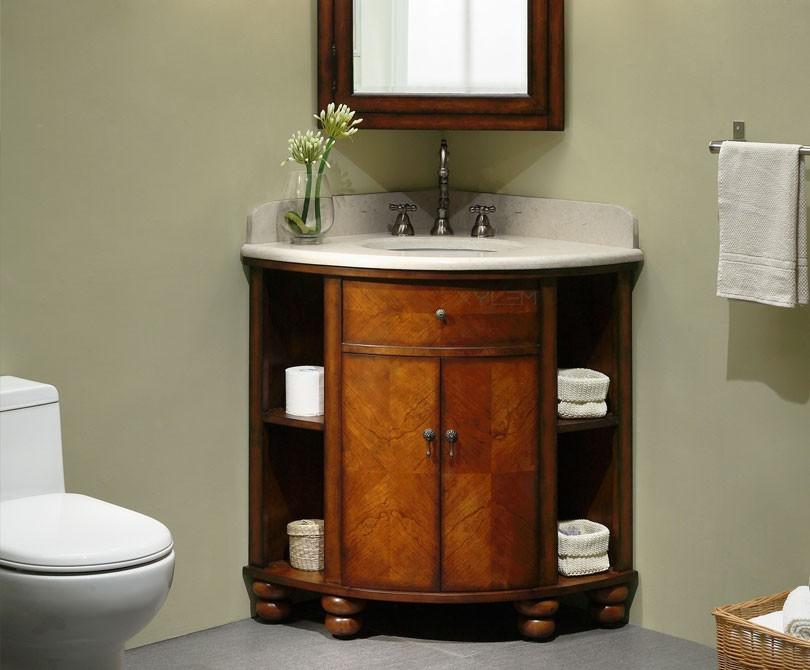 Corner bathroom vanity cabinets