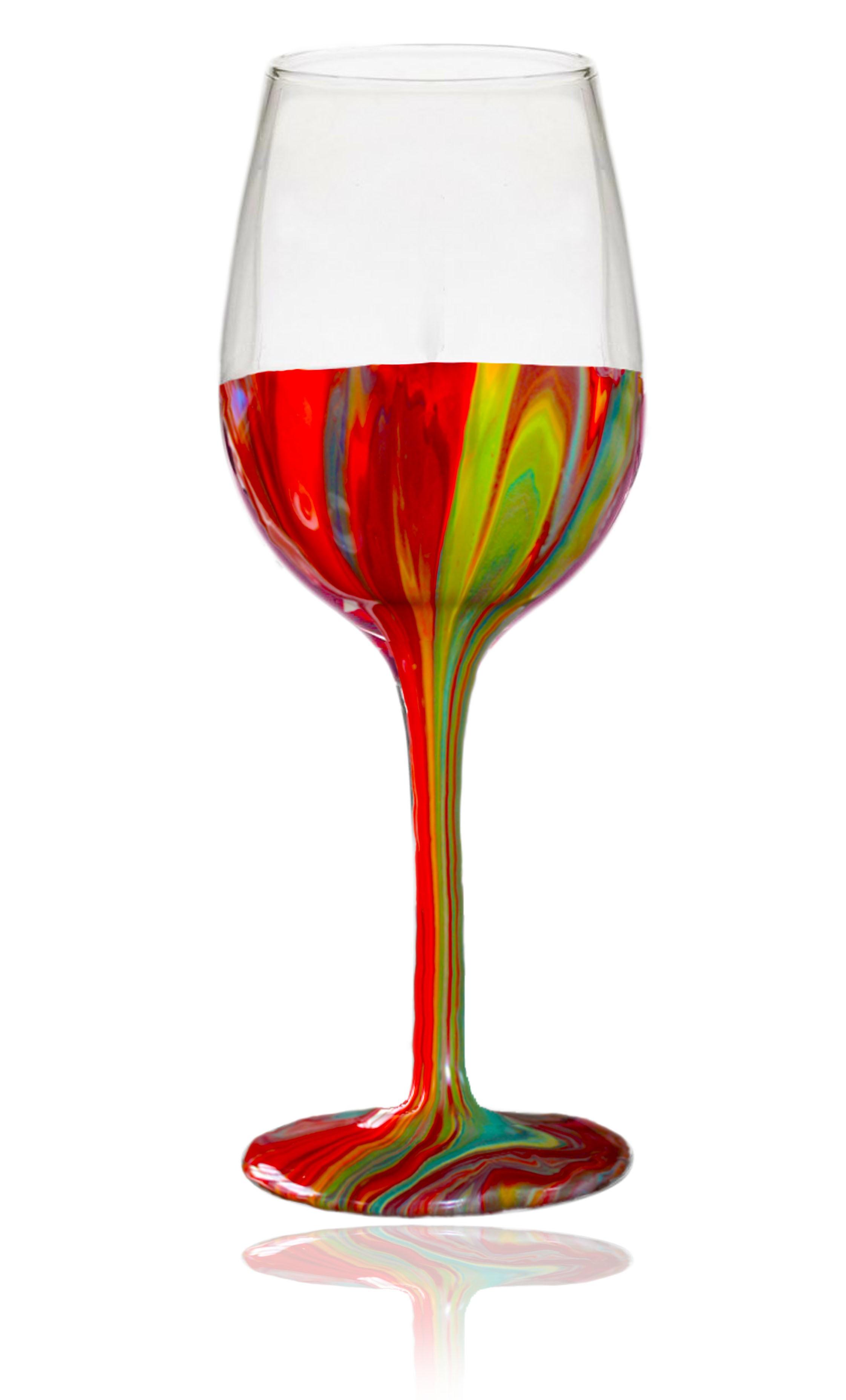 Decorated Wine Glass
