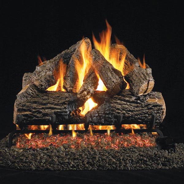 Decorative fireplace logs