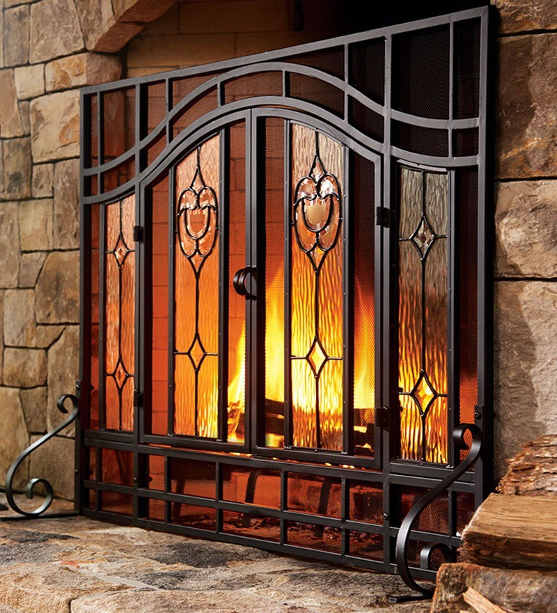Decorative fireplace screens