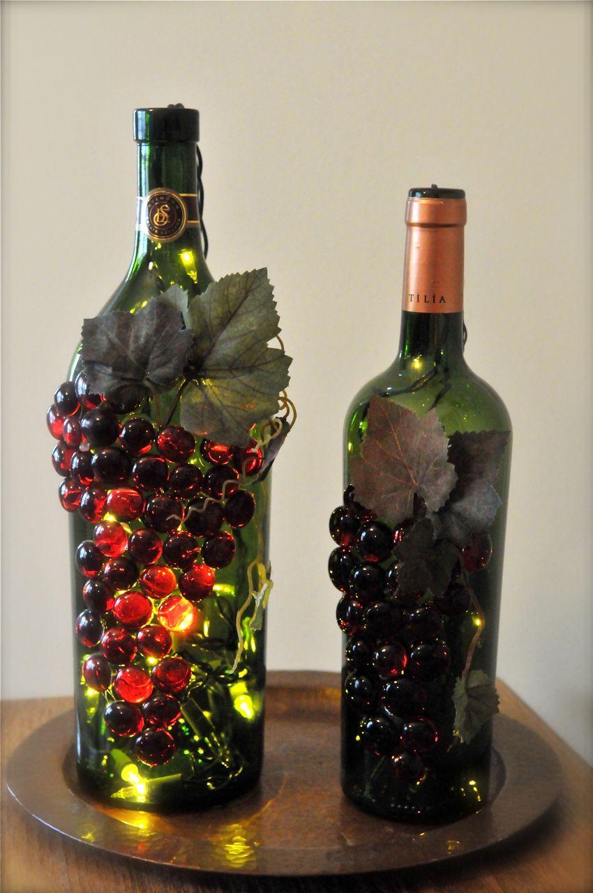 Empty Wine Bottle Decorations
