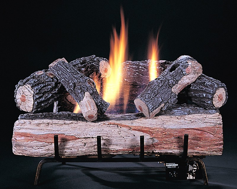 Gas fireplace log