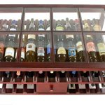 Glass Top Wine Rack Table