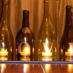 gold wine bottle centerpieces