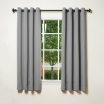 Gray Bathroom Window Curtains