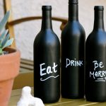 Homemade Wine Bottle Centerpieces