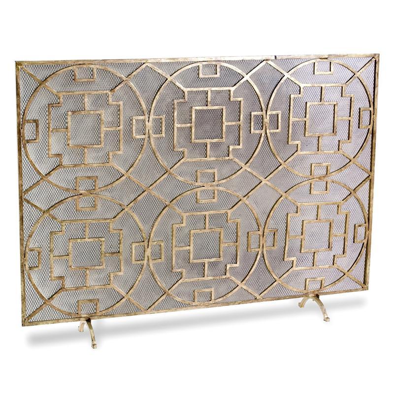 Iron fireplace screens