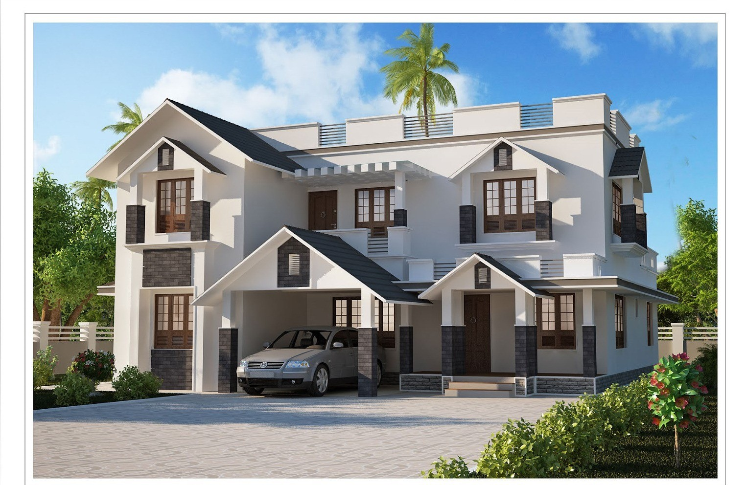 kerala home designs photos in single floor - 44+ New Small House Design In Kerala Pictures