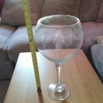 large decorative wine glass