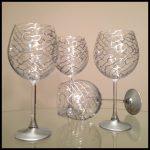 large decorative wine glasses