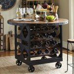 Metal Wine Rack Table