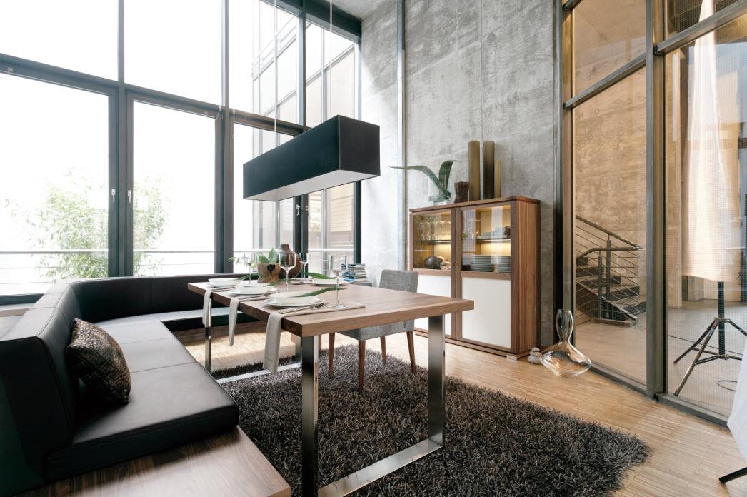 Modern glass dining room sets