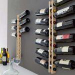 modern wine wall rack