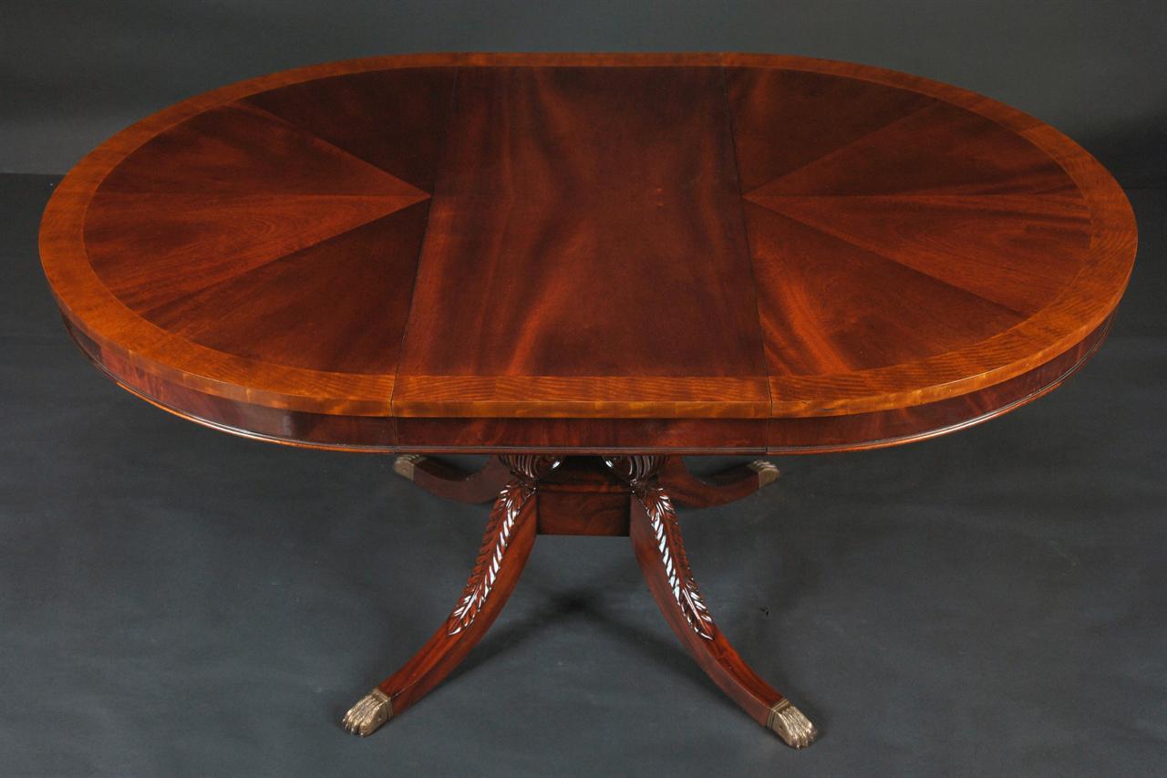 Oval mahogany dining table