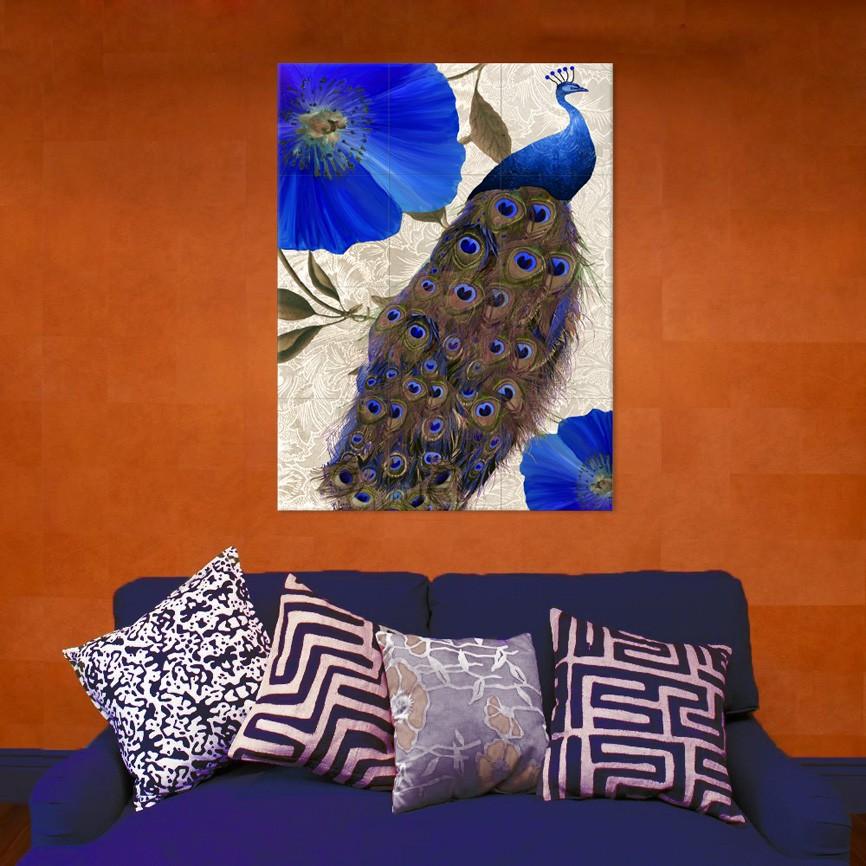 Peacock themed home decor
