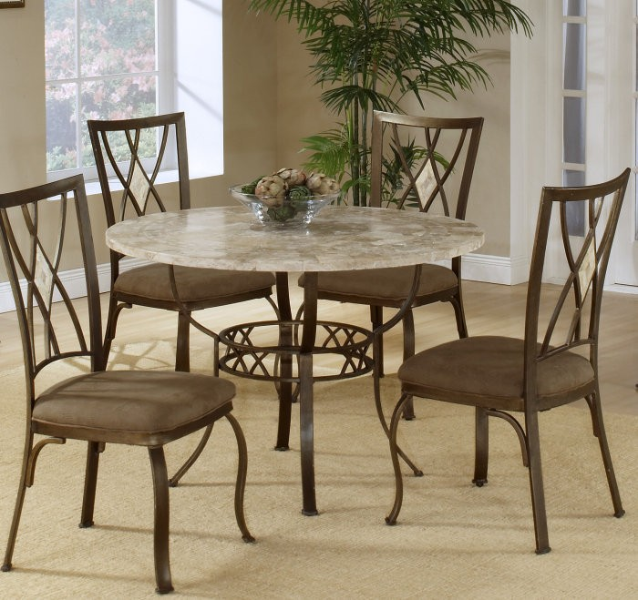 Round dining room table set
