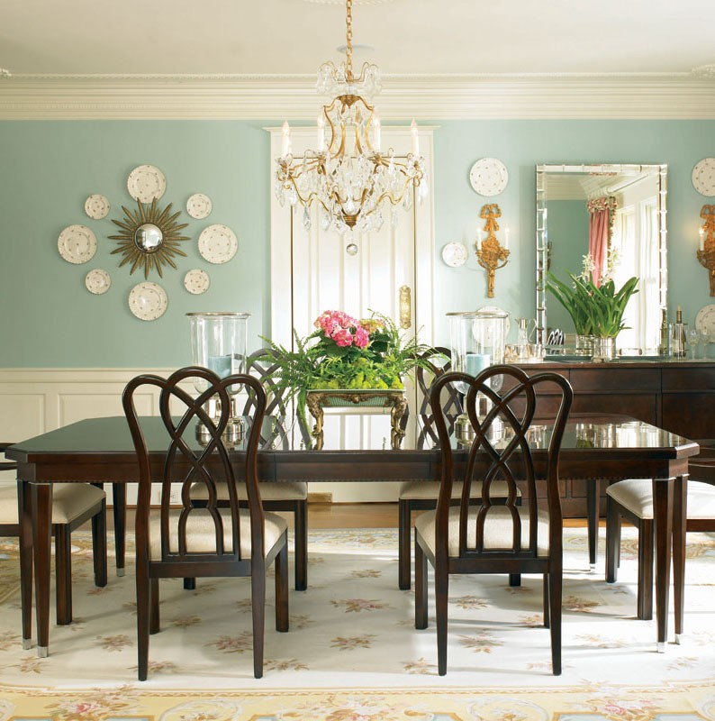 Round formal dining room tables