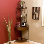 small corner wine rack