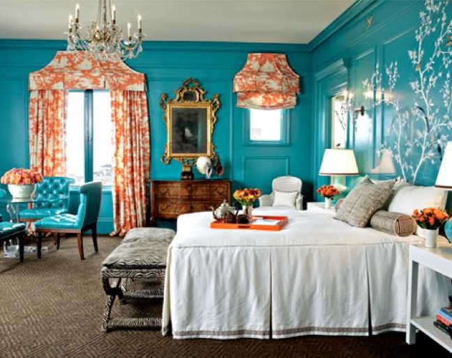 Turquoise bedroom decor
