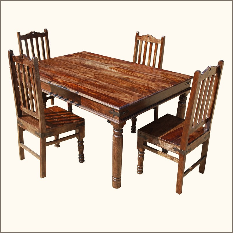 Walnut dining table and chairs