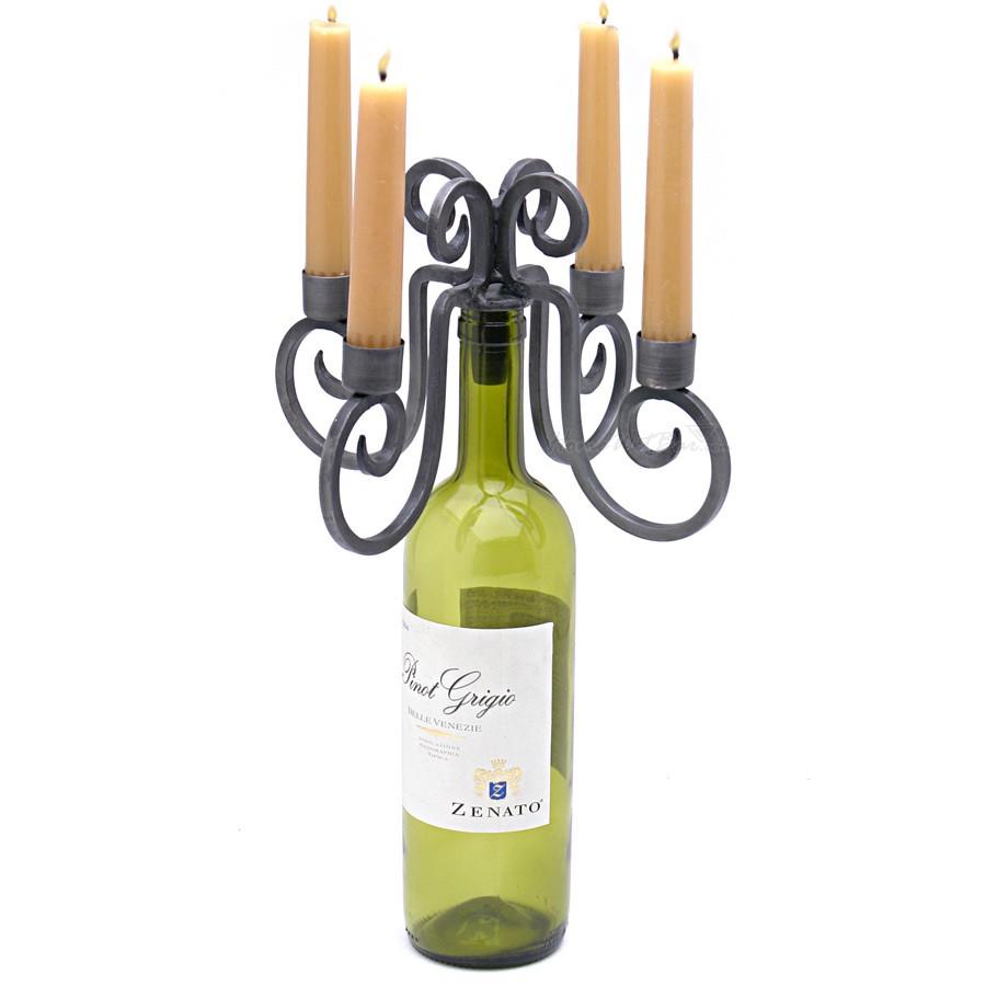 Wedding Wine Bottle Centerpieces