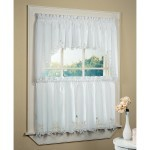 white bathroom window curtains