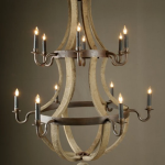 wine barrel chandelier restoration hardware