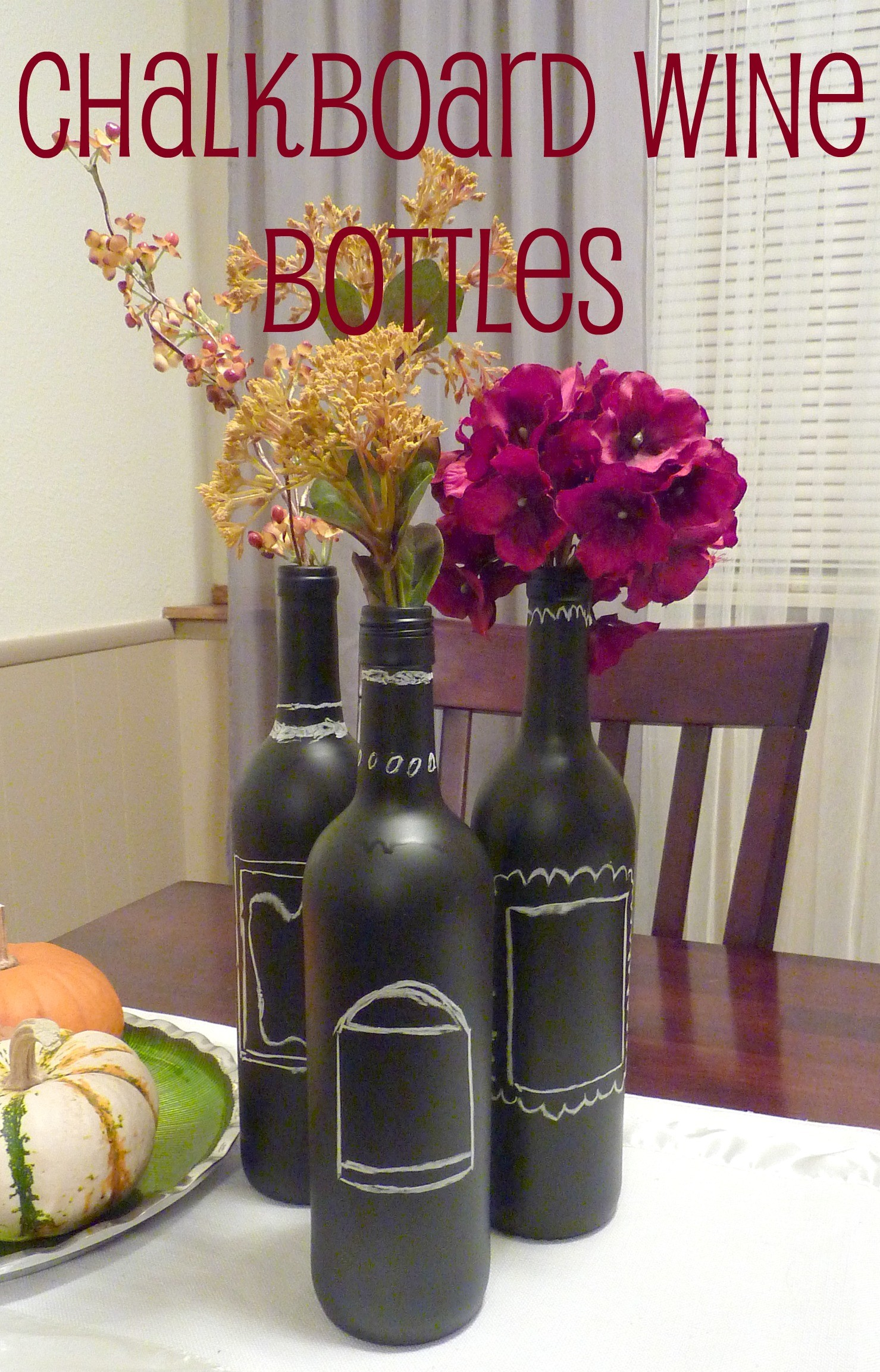 Wine Bottle Centerpieces Diy