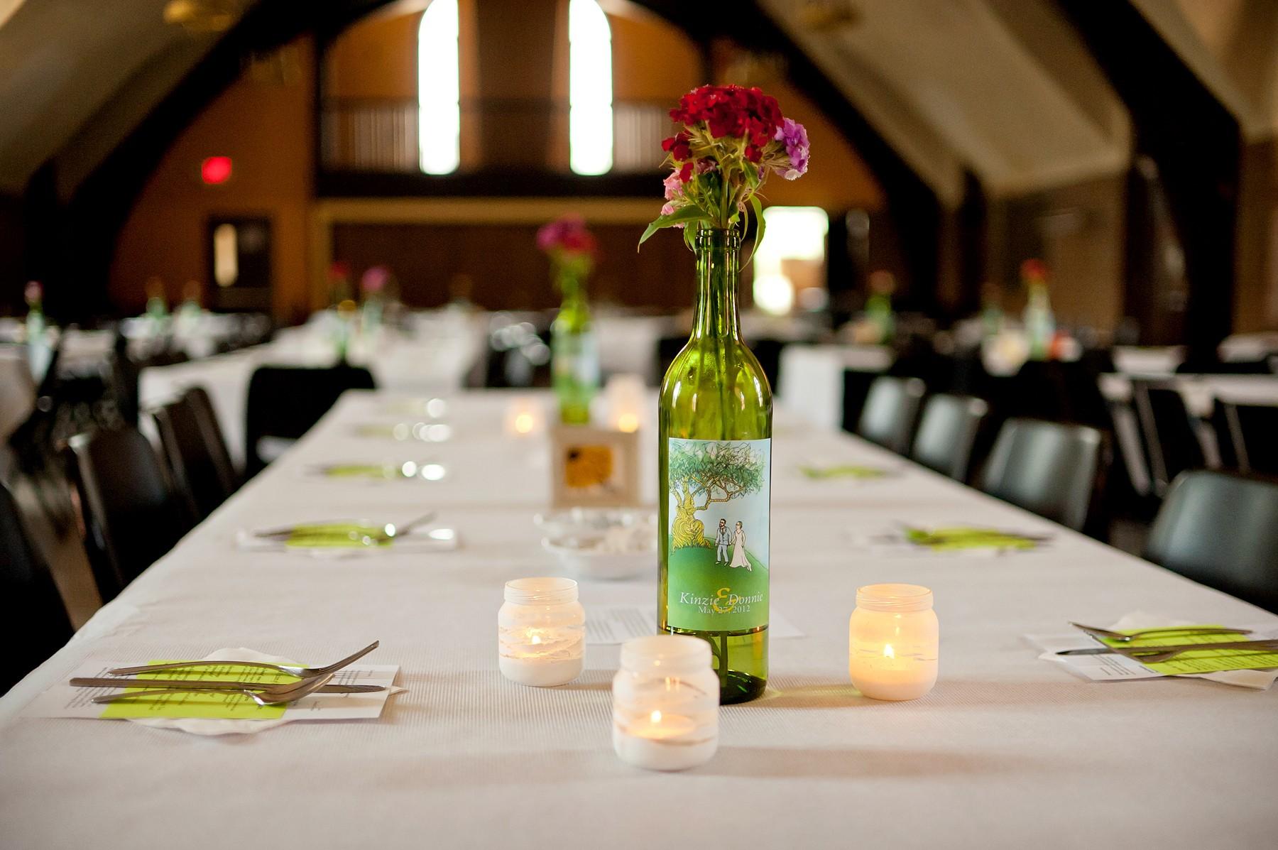 Wine Bottle Centerpieces Wedding