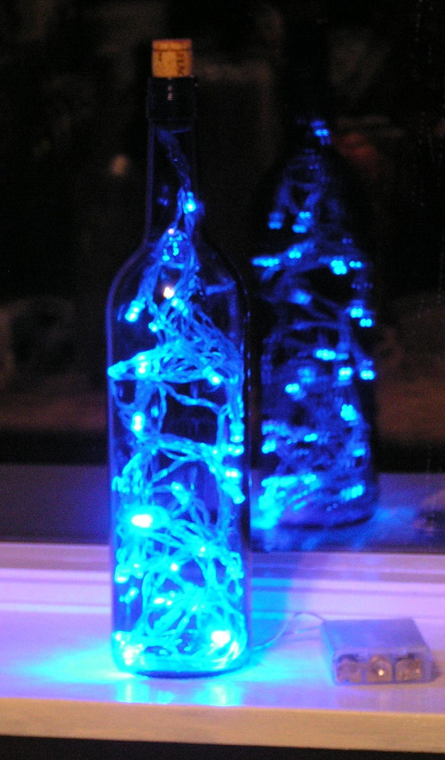 Wine Bottle Centerpieces With Lights